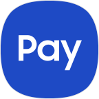 Samsung Pay Icon with Blue Background